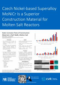 M. Cihlář a další: Czech Nickel-based Superalloy MoNiCr Is a Superior Construction Material for Molten Salt Reactors