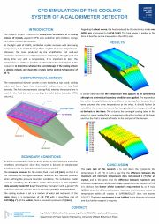 M. Volf a další: CFD Simulation of the Cooling System of a Calorimeter Detector